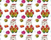 Новогодняя бумага подарочная 100х70см  (38-010)