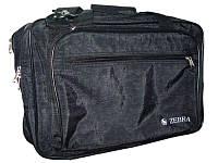 Сумка дорожняя Zebra_ткн 2824 черный тканевая обьемная