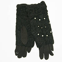Оптом женские трикотажные стрейчевые перчатки для сенсорных телефонов - №18-1-6