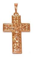 Крестик фирмы Хuping . Цвет: позолота с красным оттенком.  Высота 3,6 см. Ширина 18 мм.
