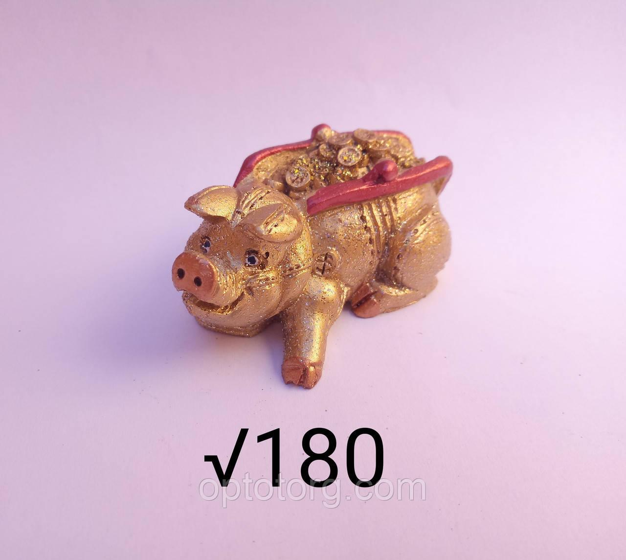 Сувенир статуэтка Год Свиньи 2019 размер 7*3,5 см