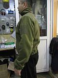 Кофта флисовая хаки milt-3/2 с накладками на плечах и локтях для военнослужащих, фото 4
