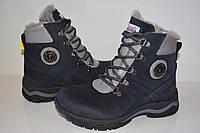 Детские кожаные ортопедические зимние ботинки Tutubi на натуральном меху, темно-синий, 33 р. (21,5 см)