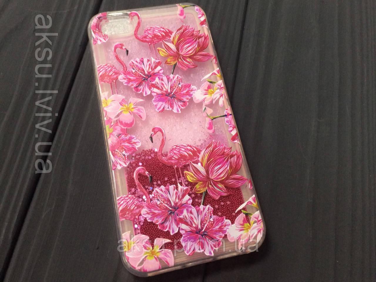 Чехол Flamingo вода для iPhone 5/5s/Se