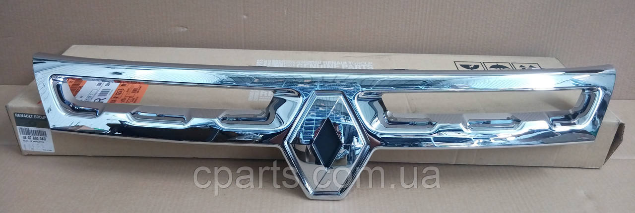 Накладка решетки хром Renault Duster 2010-2014 (оригинал)