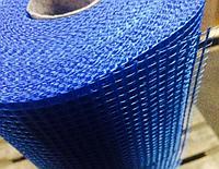 Сетка строительная армирующая фасадная штукатурная 145г\м2 - 5*5мм  для наружных работ синяя