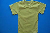 Футболка детская хлопковая желтая лимонная, фото 1