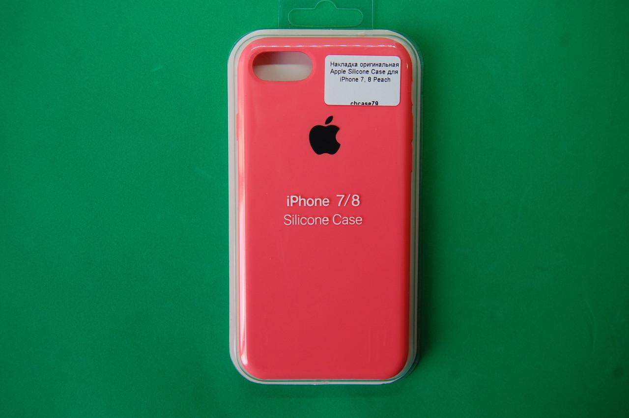 "Накладка оригинальная ""Apple Silicone Case"" для iPhone 7, 8 Peach"