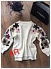 Женский свободный свитер с вышивкой в расцветках. АР-11-1018, фото 3