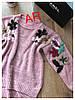 Женский свободный свитер с вышивкой в расцветках. АР-11-1018, фото 5