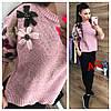 Женский свободный свитер с вышивкой в расцветках. АР-11-1018, фото 6