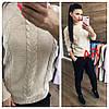 Женский свитер с ажурной вязкой в расцветках. АР-12-1018, фото 2