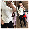 Женский свитер с ажурной вязкой в расцветках. АР-12-1018, фото 4