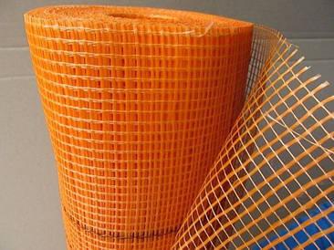 Стекловолоконная сетка армирующая фасадная штукарурная 160г\м2 - 50м 5*5мм для наружных работ оранжевая