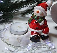 Подсвечник новогодний Снеговик