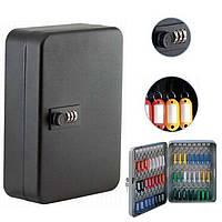 Шкафчик для ключей Buromax 0411 черный 36 матовый с брелками
