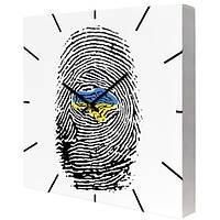 Настенные часы на холсте Отпечаток 35х35 см (CH_P_UKR043)