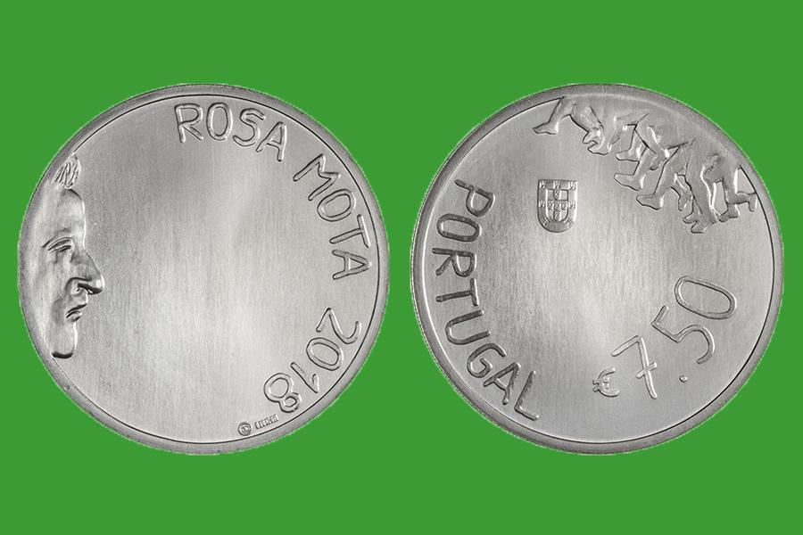 Португалия 7,5 евро 2018 г. Роза Мота , UNC