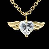 Подвеска Сердце с крыльями на цепочке, фото 2