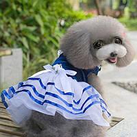 Модная одежда для собак маленьких пород Платье с рюшами