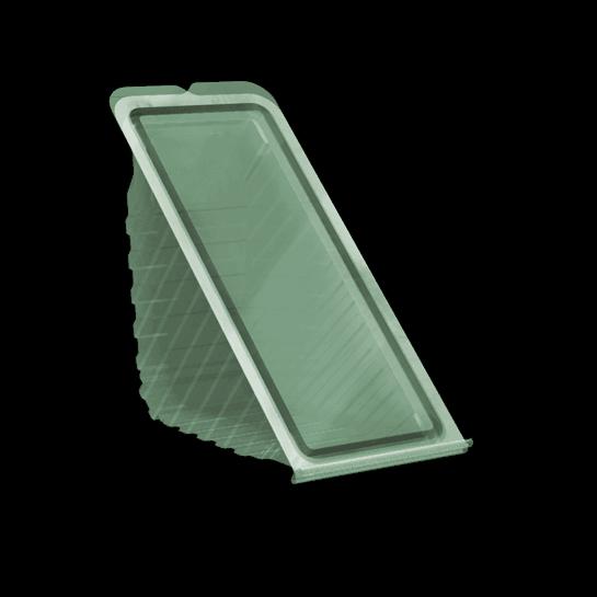 Контейнер з кришкою УК-20А, PET, прозрачный , 410 мл, 830 шт/уп