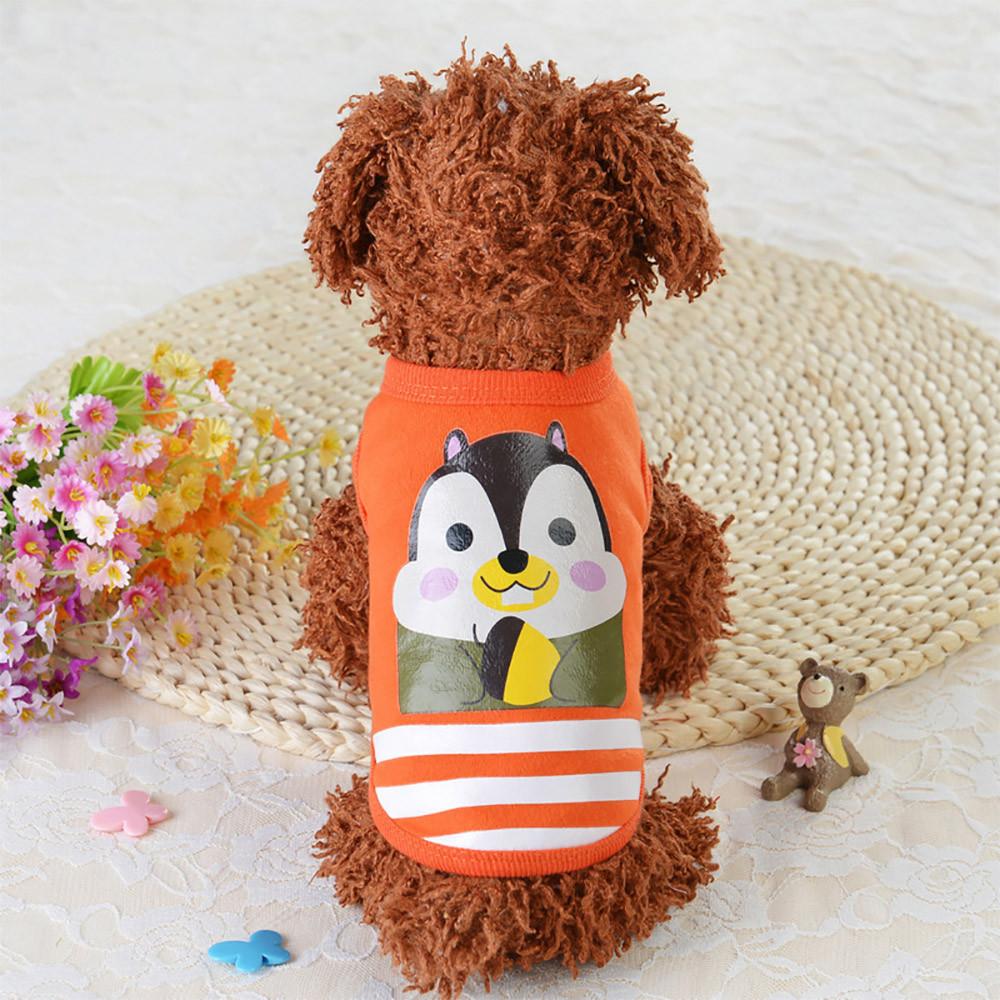 Одежда для маленьких собачек мягкая оранжевая с принтом