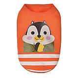 Одежда для маленьких собачек мягкая оранжевая с принтом, фото 2