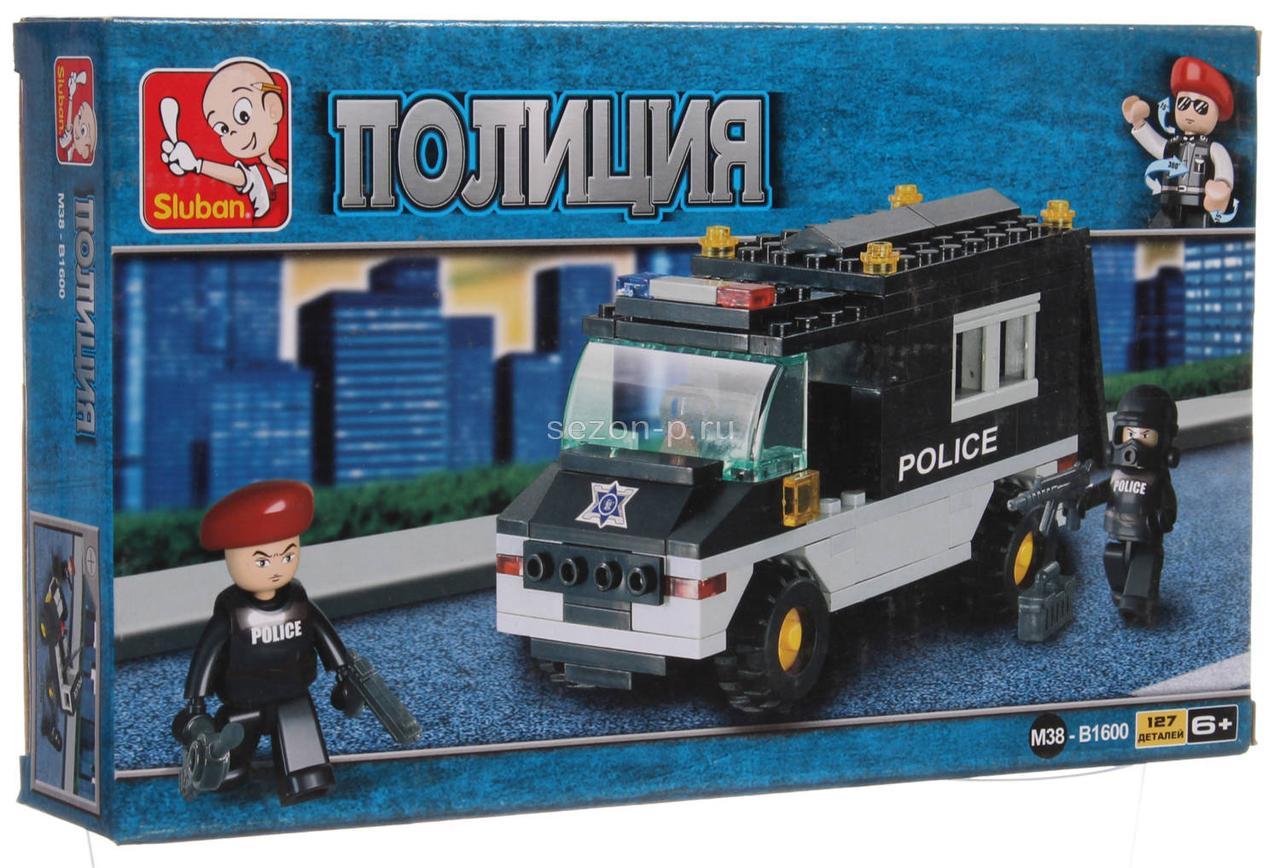 Конструктор Sluban M38-B1600 Патрульный Полицейский автомобиль 127 деталей