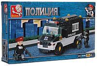 Конструктор Sluban M38-B1600 Патрульный Полицейский автомобиль 127 деталей, фото 1