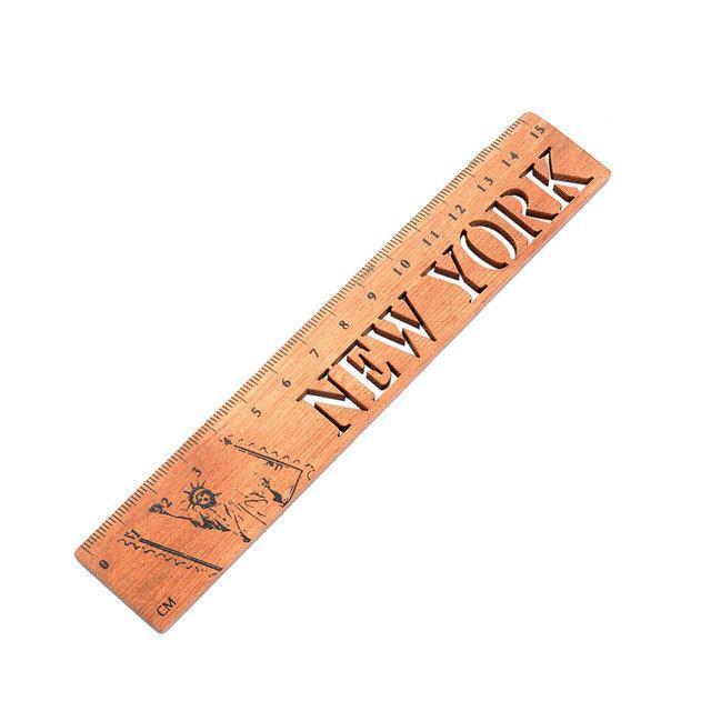 Линейка сувенир New York деревянная
