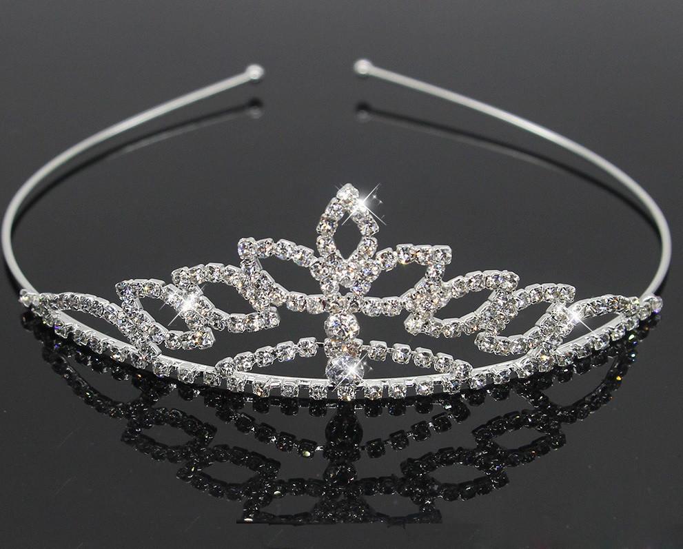 Диадема на голову невесте Лотос