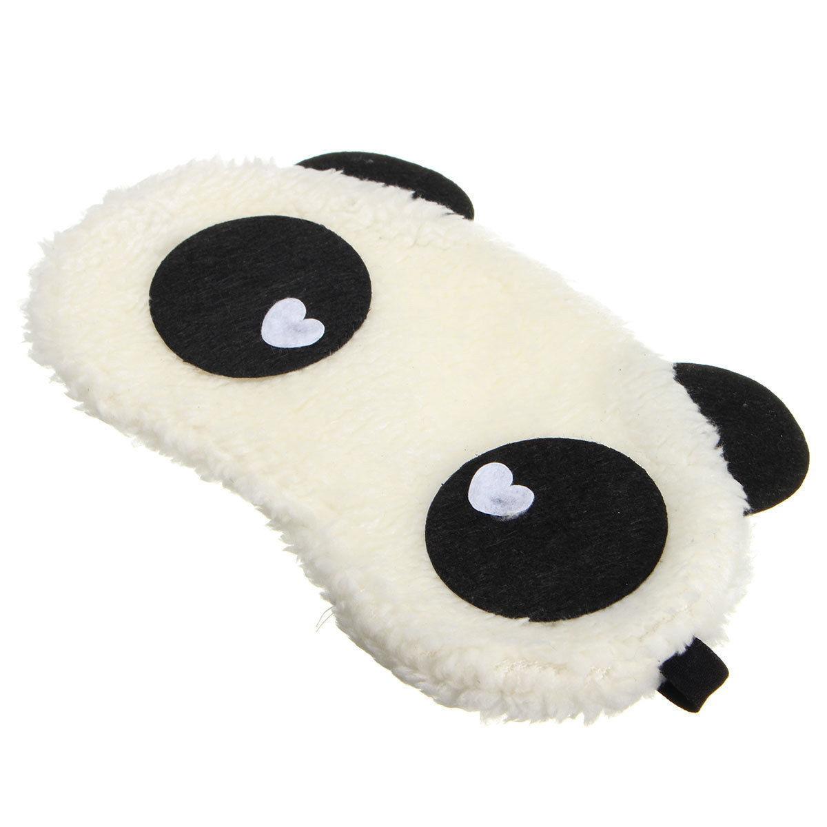 Маска для сна Панда с сердечками
