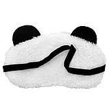 Маска для сну Панда з сердечками, фото 3