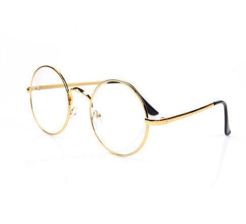 Компьютерные очки круглые Avatar в золотистой оправе