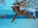 Підгузники для плавання багаторазові рожеві до 2-х років Сови, фото 2