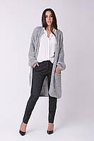 SEWEL Кардиган XW466  (42-44, светло-серый меланж, 70% акрил/ 30% шерсть)