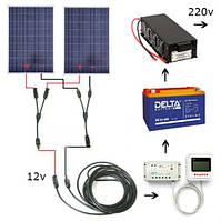 Автономная солнечная электростанция 1 кВт*ч, емкость АКБ 3 кВт*ч