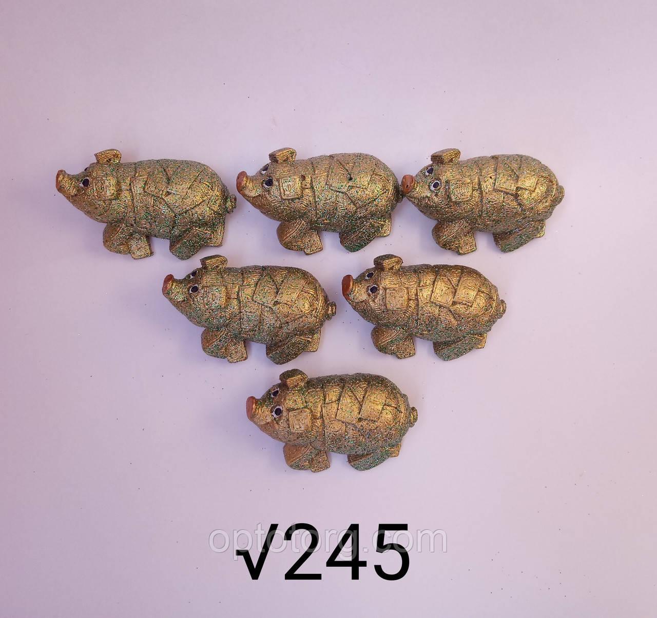 Статуэтки набор 6 шт Год Свиньи 2019 размер 5*3 см