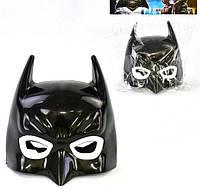 Черная маска Бэтмен детская с подсветкой