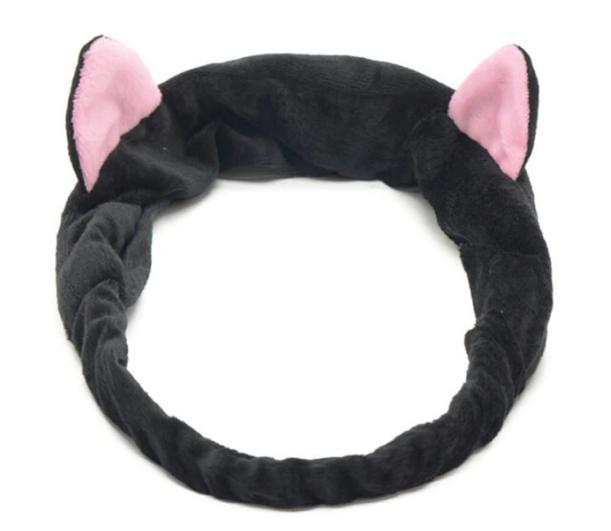 Повязка на голову ушки кошки черная