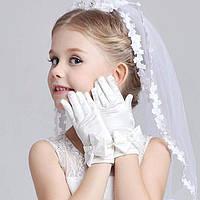 Белые перчатки для девочек Принцесса на бал карнавал