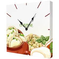 Настенные часы на холсте Украинская кухня 35х35 см (CH_K_UKR034)