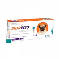 Каплі на холку Бравекто Спот-Он для собак 4.5-10 кг.