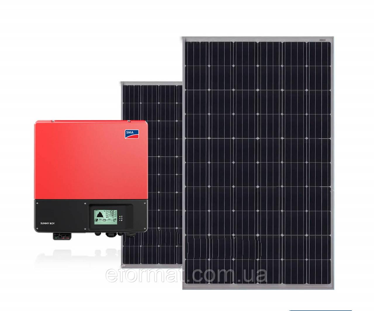 Комплект солнечной электростанции SMA + Ja Solar 10 кВт