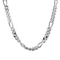 Серебряная цепочка ФИГАРО 5+1 ( КАРТЬЕ ), фото 1