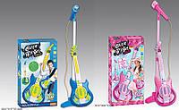 Микрофон 6969-62/61стойка, гитара, 2 вида, свет, муз