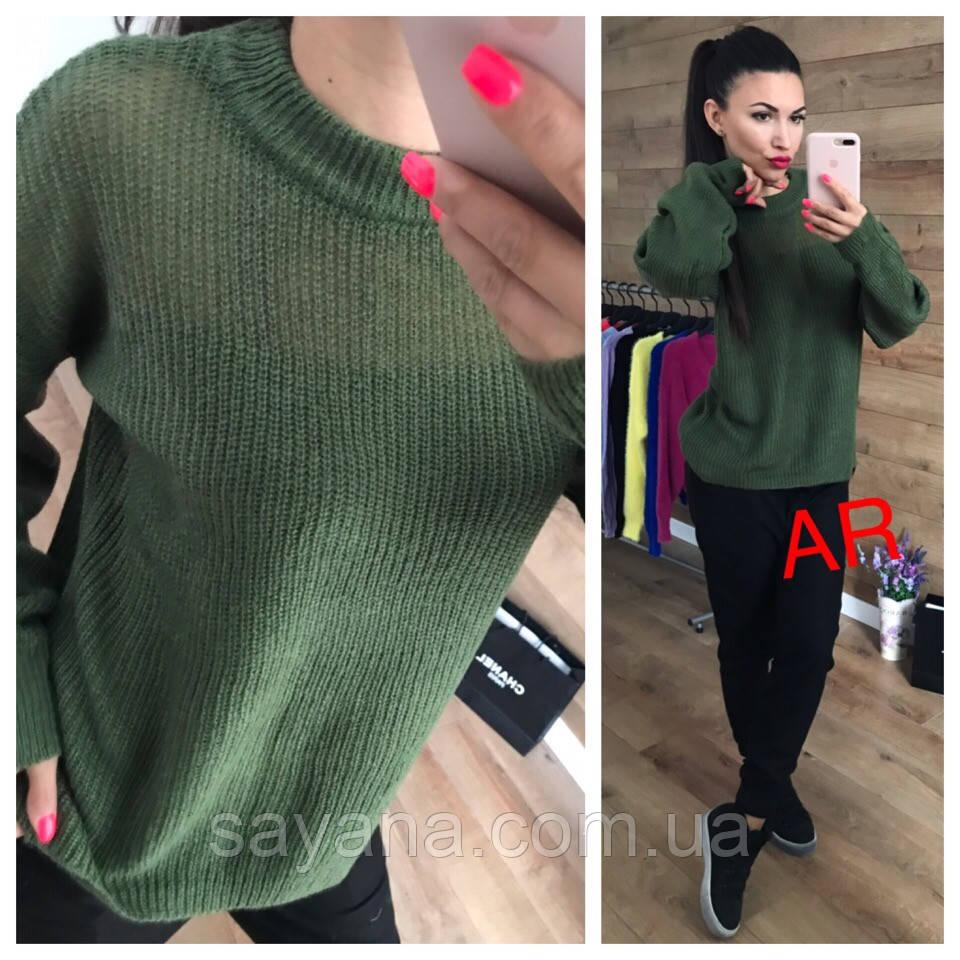 Женский ангоровый свитер свободного силуэта в расцветках. АР-23-1018
