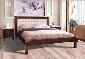 Ліжко деревяне Соната (темний горіх) 160*200