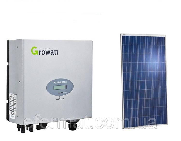 Комплект солнечной электростанции Growatt + Perlight Solar 3 кВт
