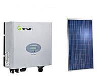 Комплект солнечной электростанции Growatt + Perlight Solar 3 кВт, фото 1